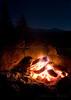 Campfire at Sunrise High Sierra Camp.  Copyright © 2008 James McGrew.