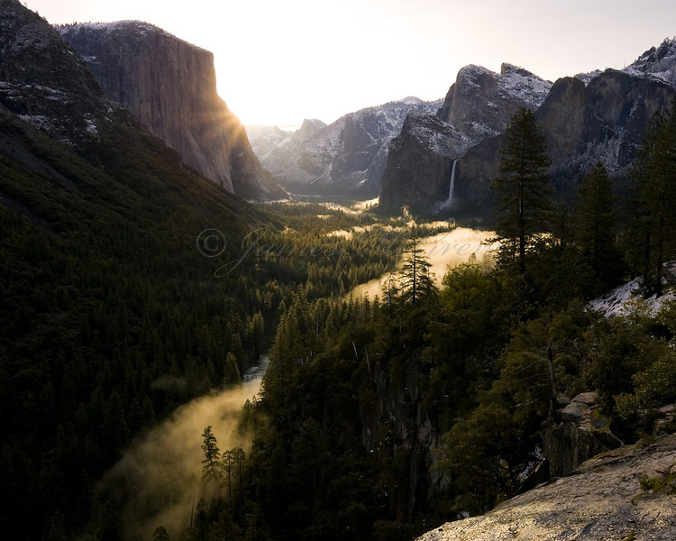 Gold Rushes into the Valley of Ahwahnee.  Copyright  ©2011 James McGrew<br /> Limited Edition, 16x20 Ultrachrome on Baryta.