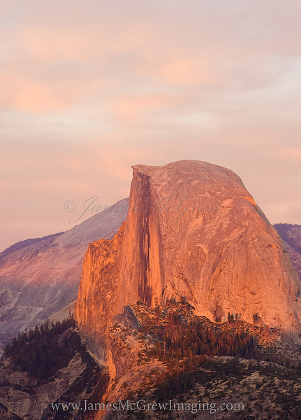 Half Dome at Sunset from Glacier Point.  ©2009, James McGrew
