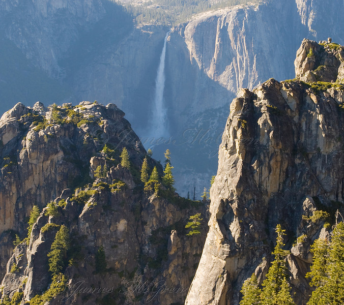Yosemite Falls from the Top of Sentinel Rock.