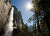 Upper Yosemite Fall and Half Dome.  ©2012, James McGrew