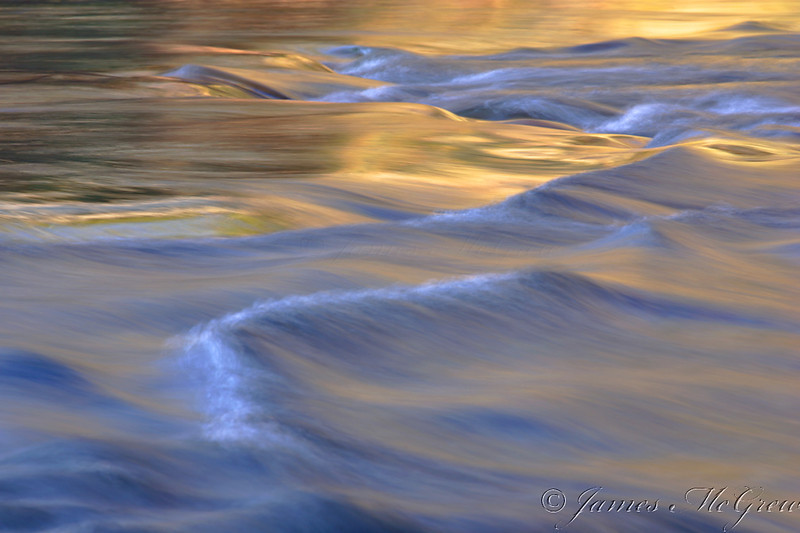 Tuolumne River Abstract.   Copyright, ©2007  James McGrew<br /> 12x18 limited edition Ultrachrome K3 on Epson Velvet 100% cotton.