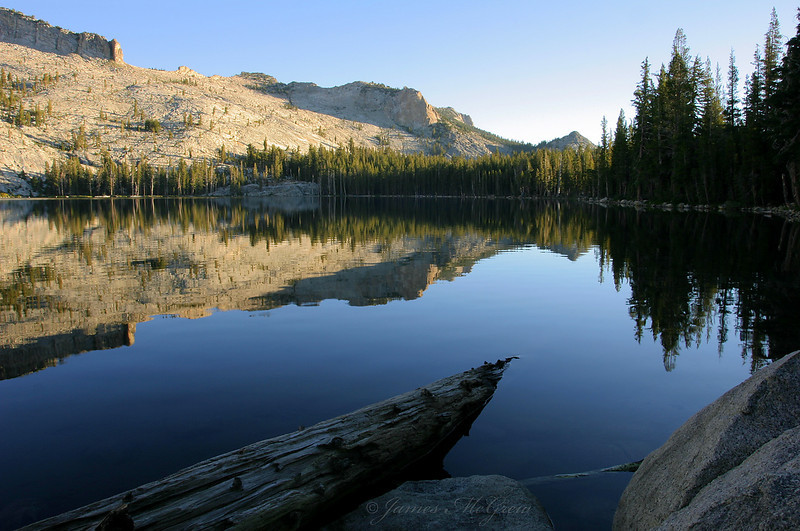 May Lake Morning.  Copyright, ©2004  James McGrew