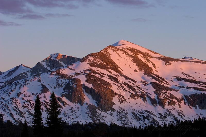 Mammoth Peak, Sunset.