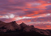 Sunset Over Unicorn and Echo Peaks.  Copyright, ©2009, James McGrew
