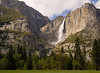 Yosemite Falls (2,425') From Chapel Meadow in May.  ©2010, James McGrew