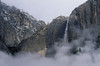 Upper Yosemite Fall, Snow and Clouds.  ©2001, James McGrew.