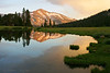 Mammoth Peak reflected in Tioga Pond.  Copyright, ©2007  James McGrew<br /> Limited Edition 12x18 and 16x21