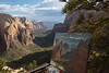 Painting in Progress on Angel's Landing as Storms Built over Zion, July 11, 2018