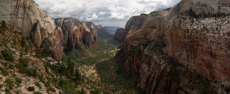 Panoramic Perspective from the Summit of Angel's Landing, July 12, 2018.