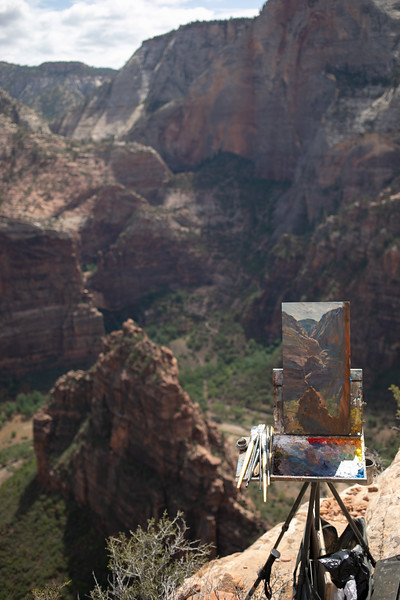Painting on Angel's Landing, July 12, 2018