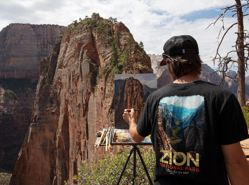 Painting on Angel's Landing, July 11, 2018