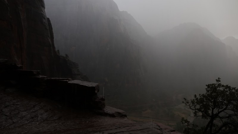 Video of Rain which starts creating waterfalls