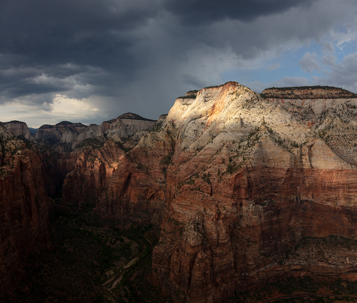 Observation Point and Thunderstorm from Angel's Landing