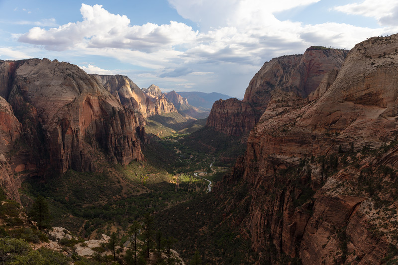 Dappled Light on Zion Canyon from Angel's Landing