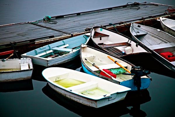 Boats at Bass/Brenard Harbor near Acadia National Park, Maine