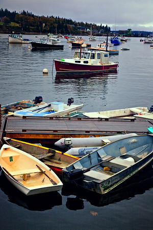 Boats at Bass/Brenard Harbor near Acadia National Park, Maine