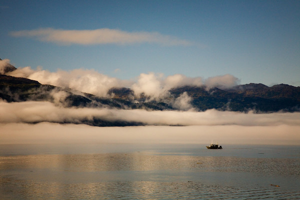 Early morning scene in Prince William Sound, Alaska