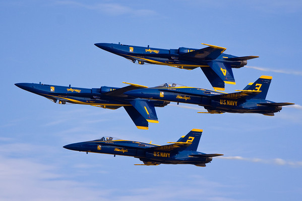 Blue Angels practicing at Pensacola Naval Air Station, Pensacola, Florida