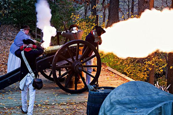 Cannon demostration at Yorktown Victory Center, Yorktown, Virginia