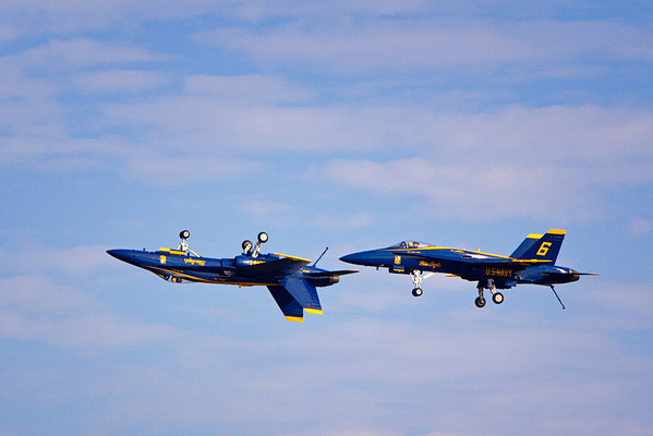 Blue Angels practicing at Pensacola Naval Air Station, Pensacola, Florida