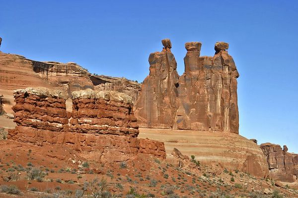 Three Gossips, Arches NP, Moab, Utah