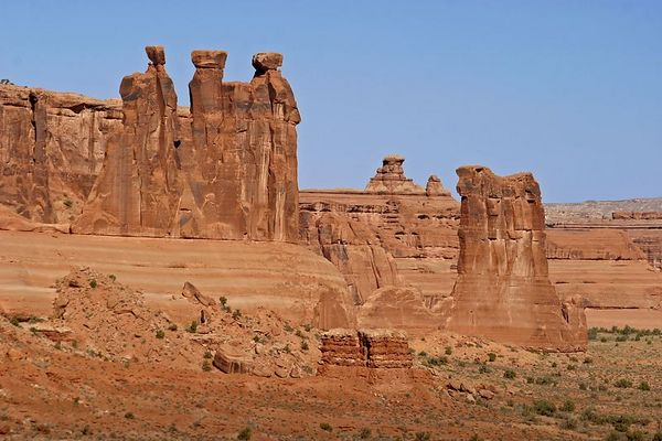 Three Gossips and Sheep Rock, Arches NP, Moab, Utah