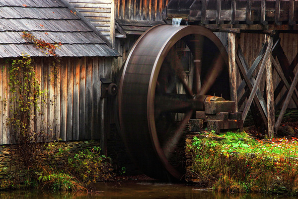 Mill wheel at Mabry Mill on the Blue Ridge Parkway, Virginia
