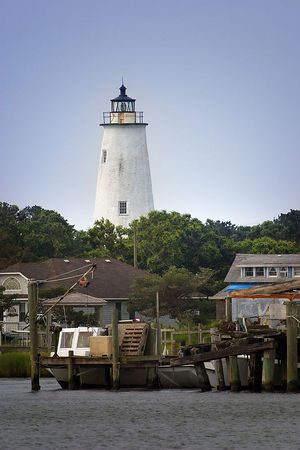 Ocracoke Lighthouse - Outer Banks - North Carolina (taken from near the ferry landing)