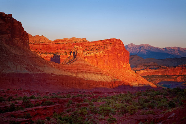 Sunset in Capitol Reef National Park, Utah