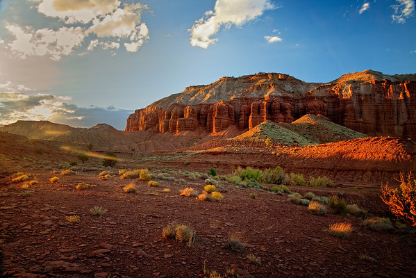Sunset in Capitol Reef National Park, Utah