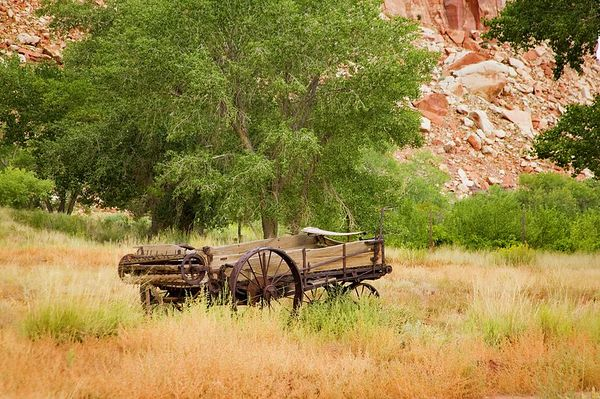 Farm equipment, Capitol Reef National Park, Utah