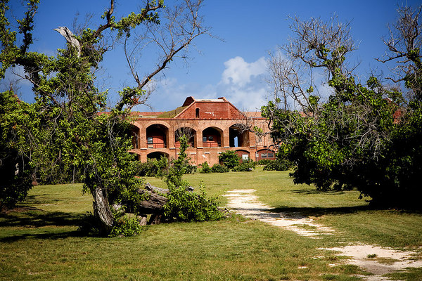 Inside Fort Jefferson which is located on Garden Key in Dry Tortugas National Park, Florida.