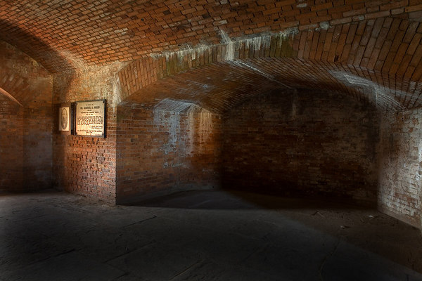 Dr. Samuel Mudd's cell at Fort Jefferson located on Garden Key in the Dry Tortugas National Park, Florida.