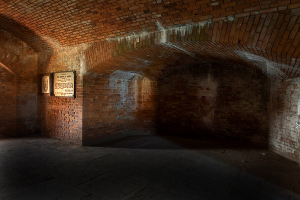 "Dr. Samuel Mudd's ""ghost"" in his cell at Fort Jefferson located on Garden Key in the Dry Tortugas National Park, Florida."