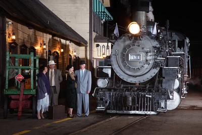 Durango-Silverton Narrow Gauge Railroad at the station in Durango, Colorado