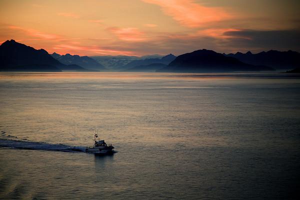 Leaving Glacier Bay National Park, Alaska