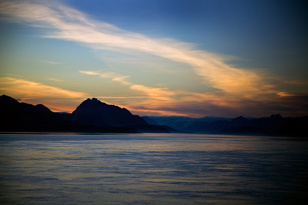 Sunset over Glacier Bay National Park, Alaska