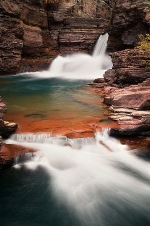 St Mary's Falls in Glacier National Park, Montana
