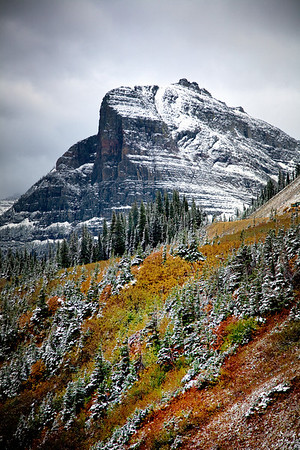 Mt Oberlin in Glacier National Park, Montana