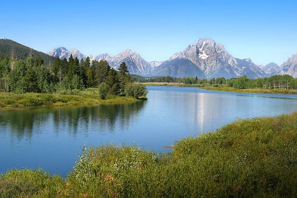 Oxbow Bend looking at Mt. Moran in Grand Teton National Park, Wyoming