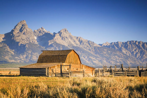 Old Mormon barn, Grand Teton National Park, Wyoming