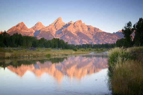 Grand Teton National Park, Wyoming with the Snake River in the foreground
