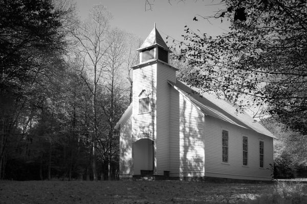 Palmer Chapel in Cataloochee, Great Smoky Mountains National Park
