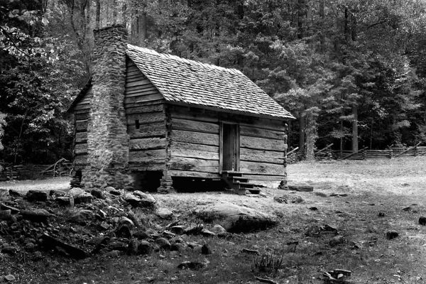 Jim Bales Cabin on the Roaring Fork Motor Nature Trail, Great Smoky Mountains National Park, Tennessee