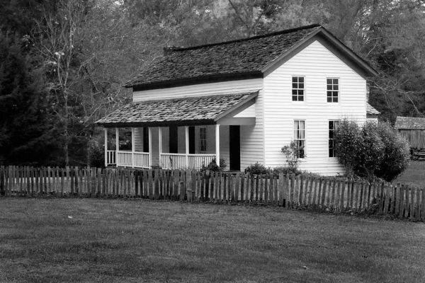 Gregg-Cable House in Cades Cove, Great Smoky Mountains National Park, Tennessee