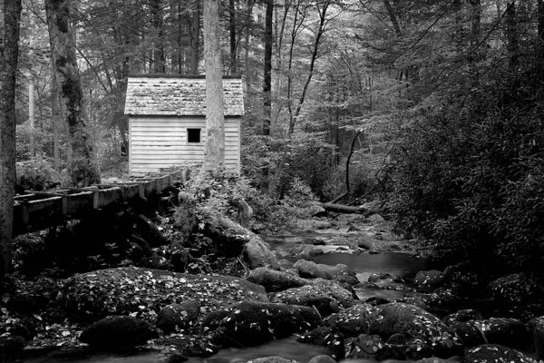 Reagan Mill on the Roaring Fork Motor Nature Trail, Great Smoky Mountains National Park, Tennessee