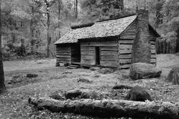 Ephraim Bales Cabin on the Roaring Fork Motor Nature Trail, Great Smoky Mountains National Park, Tennessee