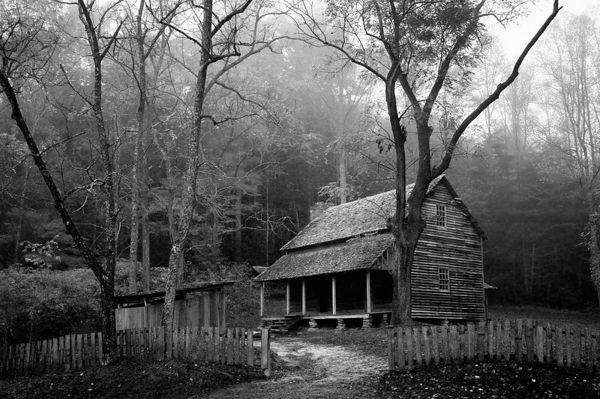 Tipton Place in Cades Cove, Great Smoky Mountains National Park, Tennessee