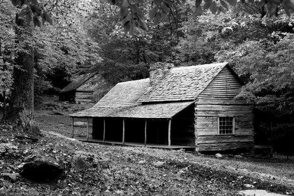 Ogle Cabin on the Roaring Fork Motor Nature Trail, Great Smoky Mountains National Park, Tennessee